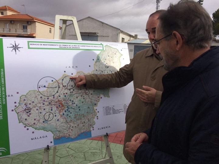 Mapa con los últimos arreglos efectuados en la provincia.