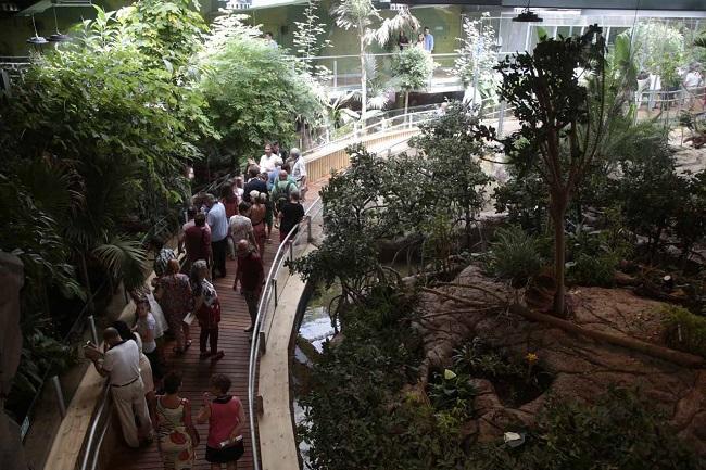 Imagen de la inauguración del BioDomo, la última fase del Parque de las Ciencias.