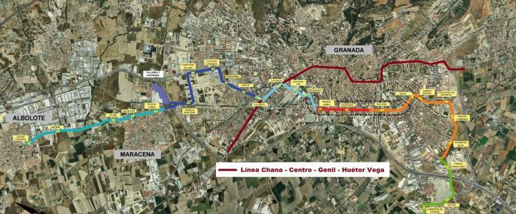 Infografía con el trazado de una segunda línea para el Metro.