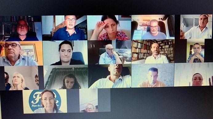 Reunión telemática de la Junta Directiva.