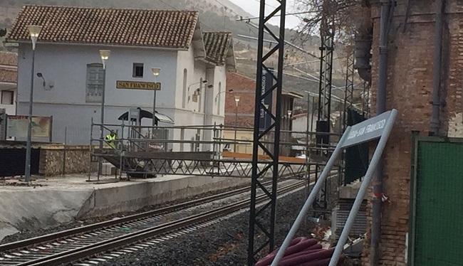 Imagen del trazado en la Estación de San Francisco de Loja a finales de diciembre.
