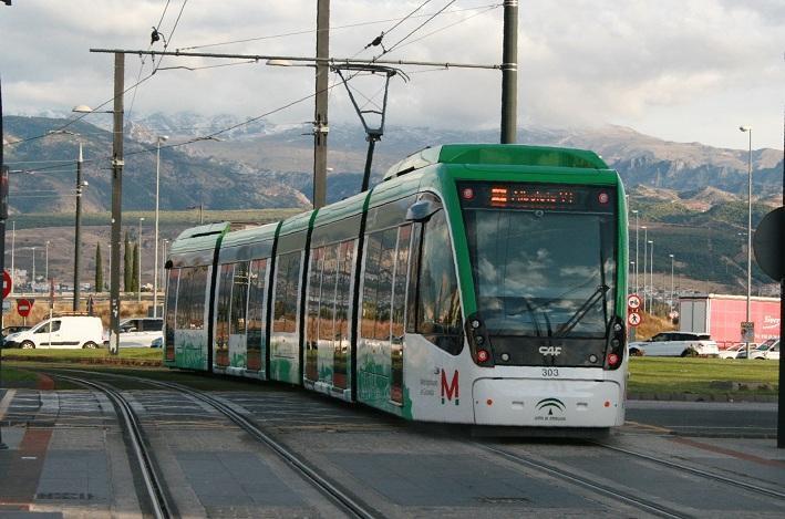 Convoy del Metro de Granada.