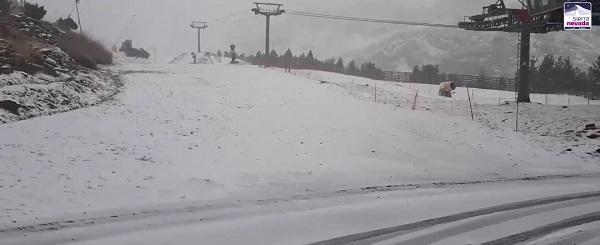 Imagen, extraída de un vídeo de Cetursa, de la estación este jueves.