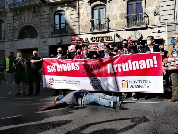 Detalle de la manifestación celebrada la pasada semana.
