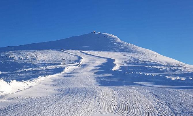 Pista Olímpica, la más alta de Sierra Nevada, preparada para la apertura este sábado.