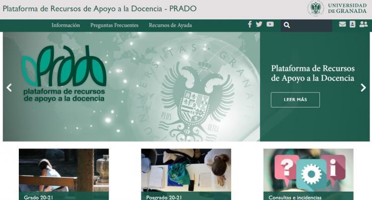 Captura de pantalla de la página web de acceso a la plataforma.