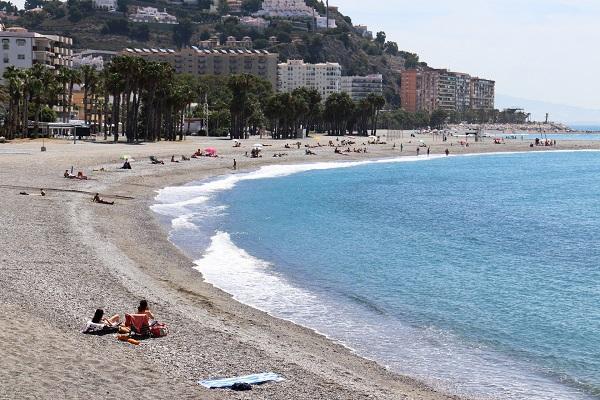 Playa de Puerta del Mar el pasado fin de semana.