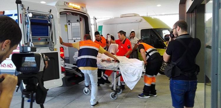 El primer paciente llega al Hospital del Campus pasada las 8 de la mañana.