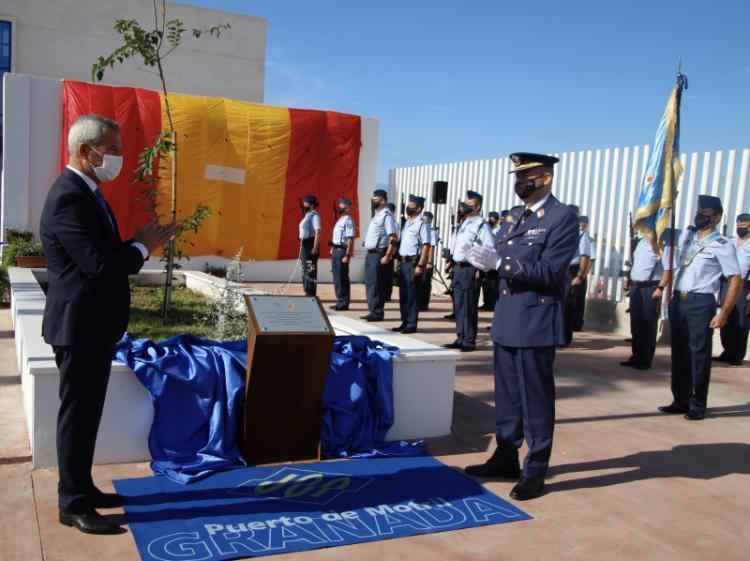 Inauguración de la plaza dedicada al EVA 9.