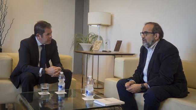 Gerardo Cuerva con Ángel Ibarra.