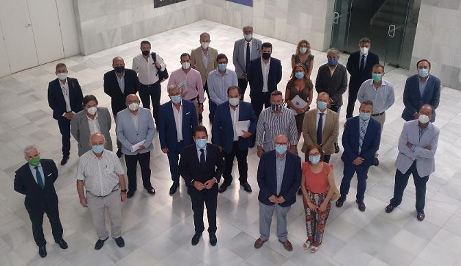 Reunión de presidentes de asociaciones empresariales de la provincia.