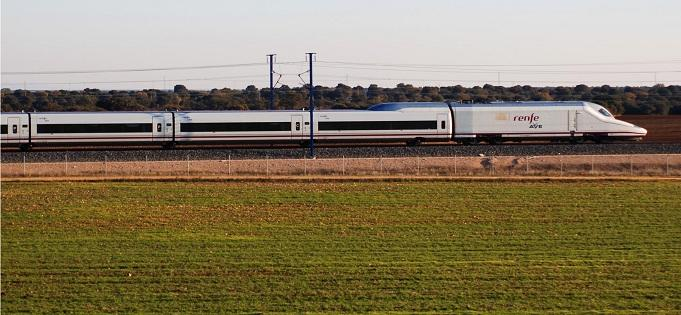 Uno de los trenes AVE.