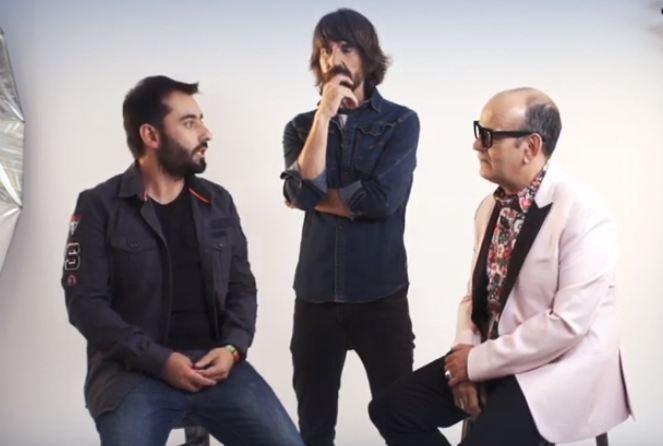 Sancho, Millán y Corbacho, en un vídeo promocional del espectáculo.