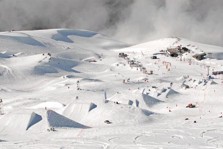 Línea de slopestyle de 2013.