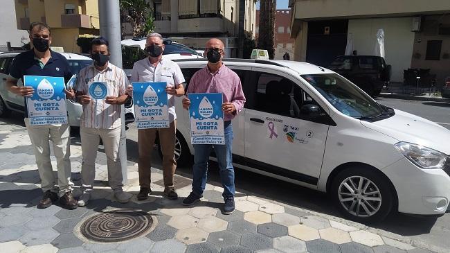 Taxistas de Almuñécar en apoyo a la campaña por Rules.