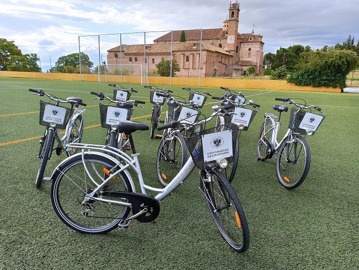 Bicicletas para préstamo de la universidad granadina.