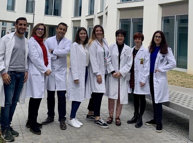 Parte del equipo científico, en la Facultad de Medicina.