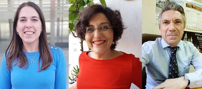 Ana Álvarez, Carmen Gómez y Juan Carlos Sierra.