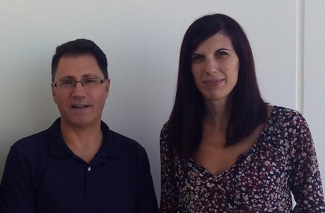 Parte del equipo que ha realizado este trabajo: Miguel Pérez y Natalia A. Hidalgo.