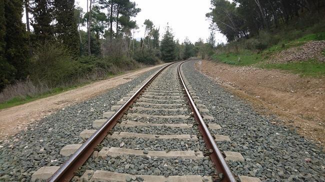 Vías del tren en la provincia de Granada.