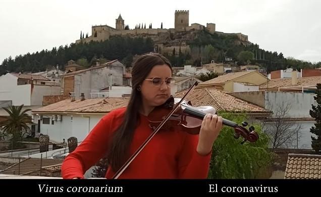 Detalle del vídeo grabado por la Orquesta y el Coro de la UGR.