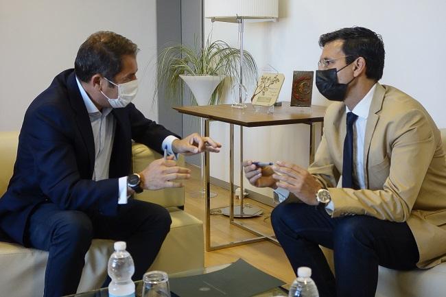 Cuerva y Cuenca, durante la reunión de trabajo.