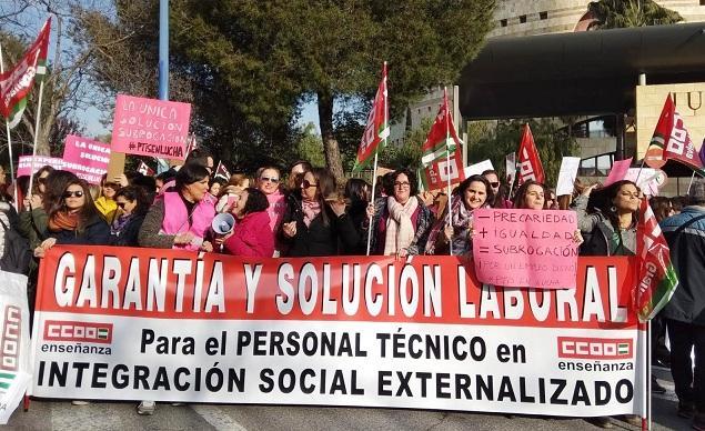 Concentración realizada este miércoles en Sevilla.