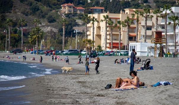Detalle de las playas sexitana.
