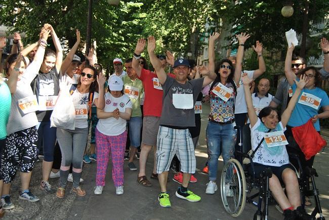 Participantes en la jornada de deporte inclusivo.
