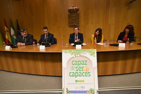 Presentación de las jornadas en la Diputación.