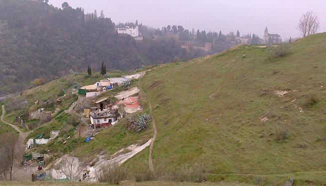 Cuevas en el Cerro de San Miguel.