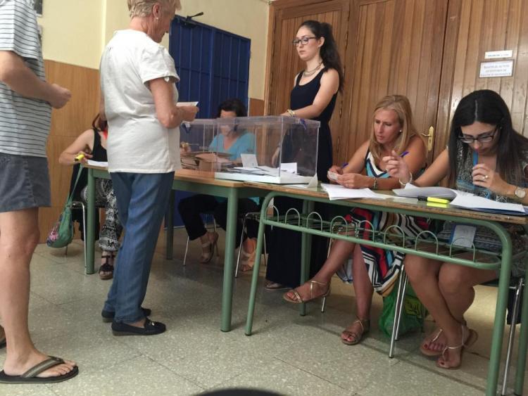 La afluencia a las urnas ha rozado el 70 por ciento en la provincia.
