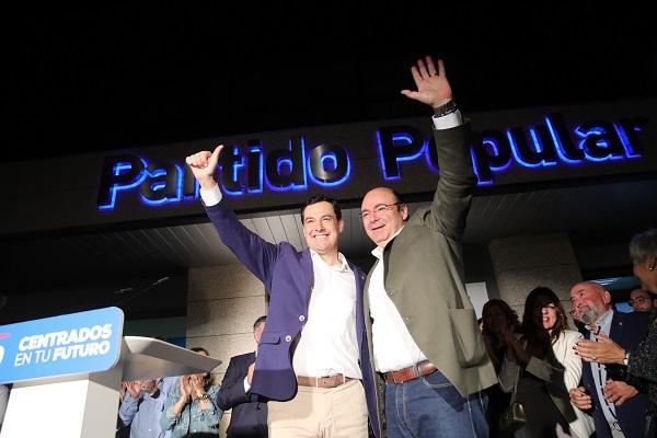 Juan Manuel Moreno y Sebastián Pérez.