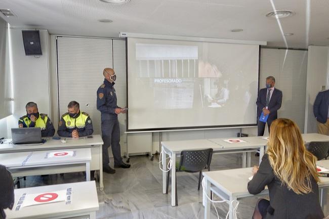 Imagen reciente de la Academia de Policía Local, con César Díaz todavía como edil de Seguridad Ciudadana.
