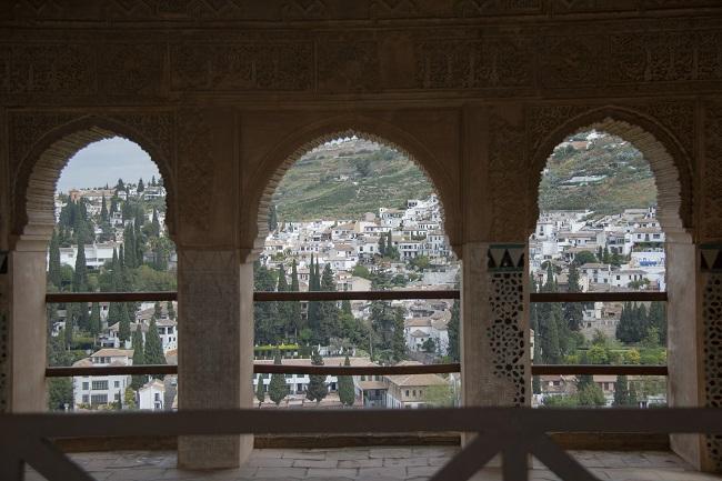 Vista del Albaicín desde la Alhambra.