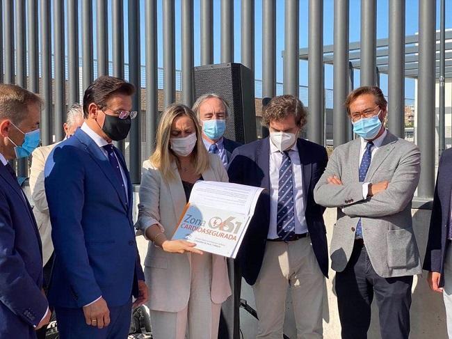 Acto de presentación de la nueva zona cardioasegurada del metro de Granada.