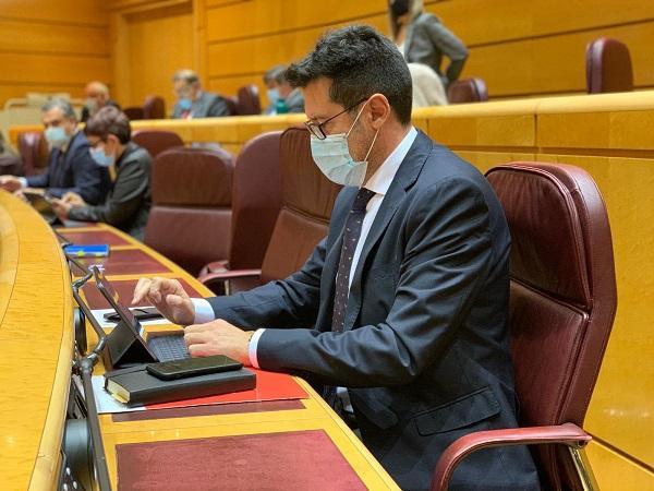 Alejandro Zubeldia, en el Senado.