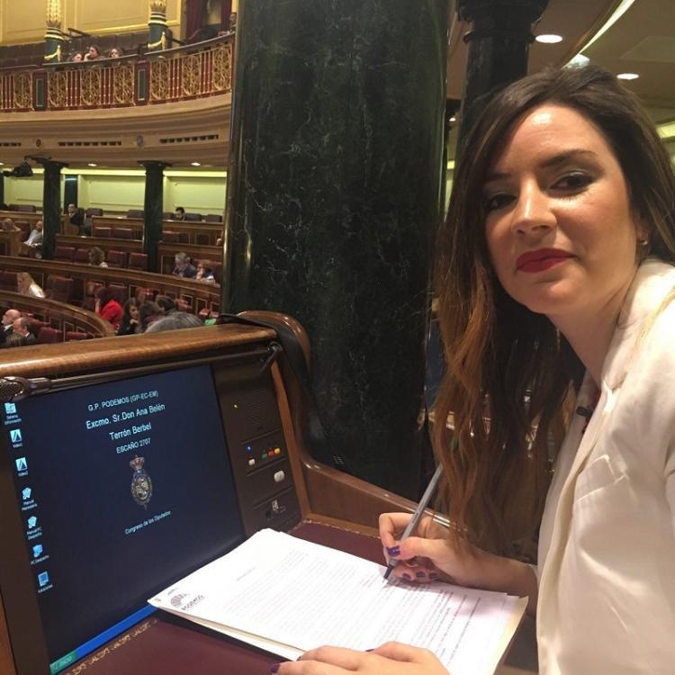 Ana Terrón en el Congreso de los Diputados.
