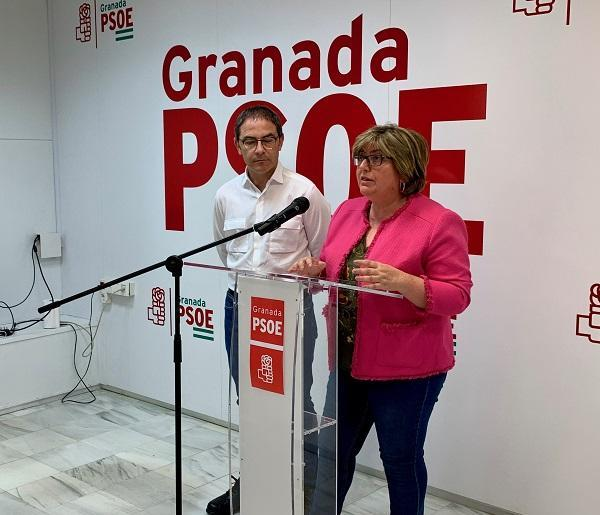 Ana Muñoz, junto a Miguel Ángel Fernández Madrid, en una rueda de prensa.