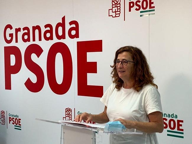 María Arnedo en rueda de prensa.