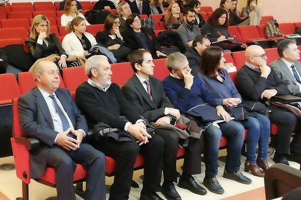 Banquillo de los acusados en la primera sesión del juicio en febrero.