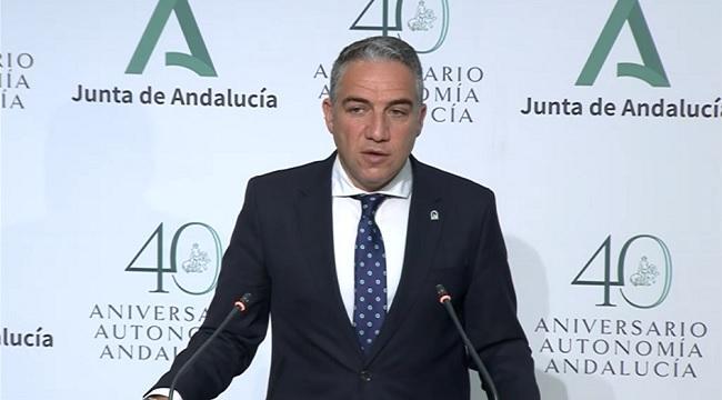 Elías Bendodo, este martes tras el Consejo de Gobierno.