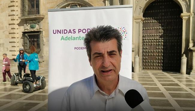 Antonio Cambril, en la rueda de prensa de este martes.