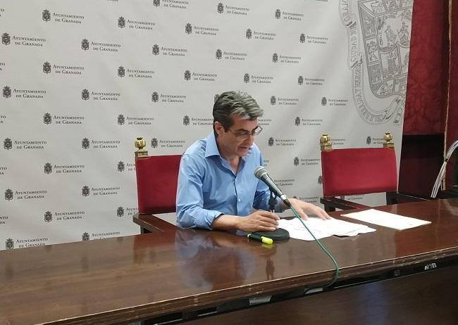 Antonio Cambril en rueda de prensa.
