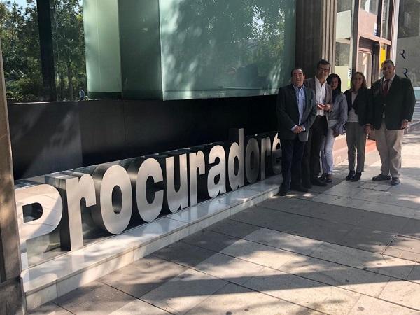 Carazo y Ferreira, este jueves, en el Colegio de Procuradores.