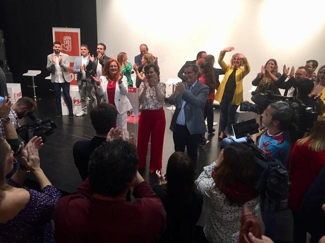 Carmen Calvo, este martes en Salobreña.