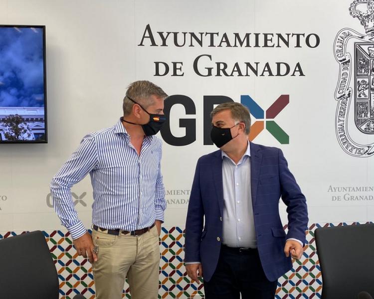 César Díaz y Francisco Fuentes, en la rueda de prensa de este lunes.