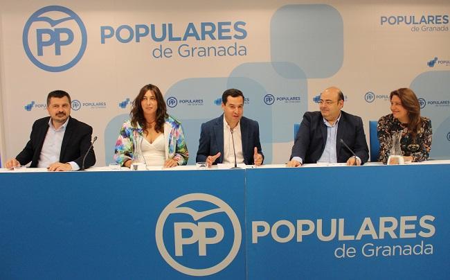 Moreno ha presidido en Granada el Comité Ejecutivo Autonómico del PP.