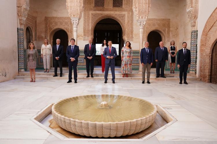 El consejo de Gobierno posa el 23 de junio de pasado, cuando se reunió en la Alhambra.
