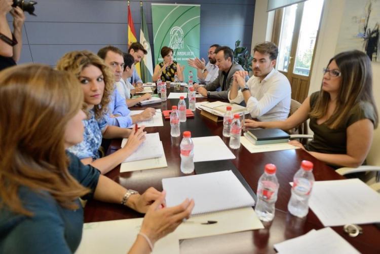 Un momento de la reunión de coordinación del equipo de delegados y delegadas de la Junta.